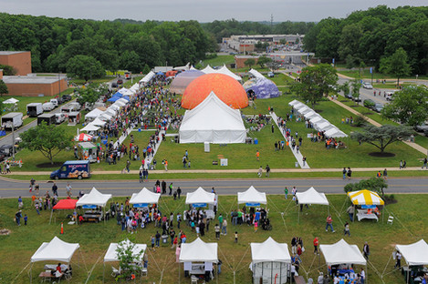 Giant custom printed inflatable dome event tents for Nasa
