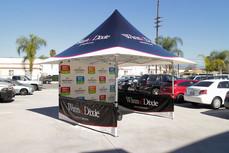 12x12 custom parasol pop up canopy with company logo Dixie
