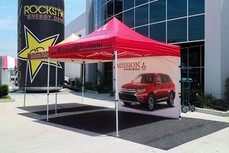10x10 custom advertising pop up canopy with business logo Mission Mitsubishi
