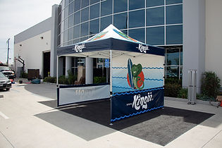 10x10 custom printed canopies with business logos