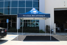 10x10 Advertising pop up event tent with business logo Granny8