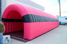 Giant inflatable sports entrance tunnel