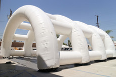 White inflatable structure