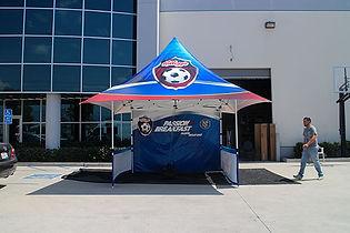 12x12 Branded parasol pop up tents