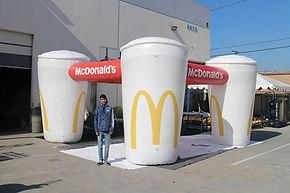 Portable cooling misting station McDonald's