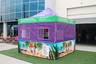 10x10 Personalized food booth tents Paradise