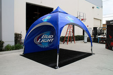 10x10 advertising arch dome tent Bud Light