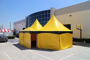 Customized hexagonal frame tents