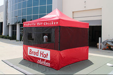 10x10 Custom printed food vendor tent bred hot chicken