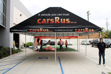 20x20 gable end frame tent with company logo carsRus