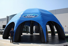 Giant inflatable spider dome event tent with business logo Ford