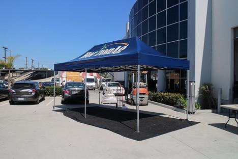 10x20 Branded canopy with company logo Horizonag