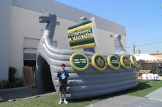 Inflatable ship tunnel entrance Vikings
