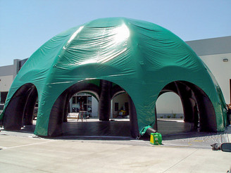 Giant inflatable green spider dome event tent