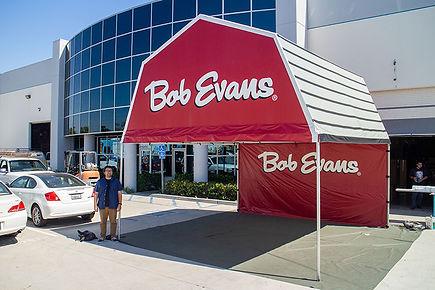 Bob Evans gable end frame tent
