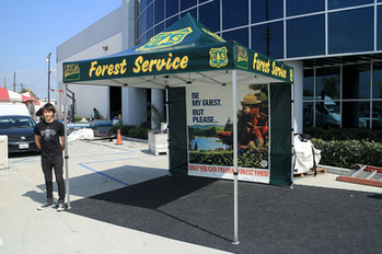 10x15 Personalized pop up event tent with graphics Forest Service