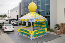 10x10 Custom printed logo pop up canopy with advertising inflatable lemonade