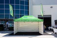 10x15 Promotional pop up canopy with flags Car Wash
