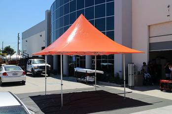 12x12 commercial parasol pop up tent orange