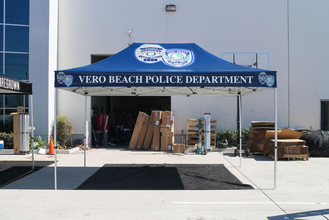10x15 Custom pop up canopy Vero Beach Police Department