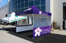 10x10 Promotional pop up canopy Essence Water