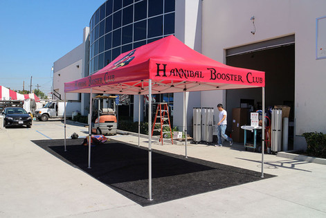 10x20 Display canopy with business logo Booster Club