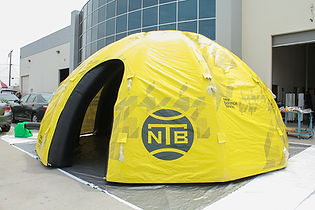 Custom printed inflatable dome New Balance for Tennis Events
