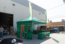 10x15 custom printed pop up event canopy with advertising flags U