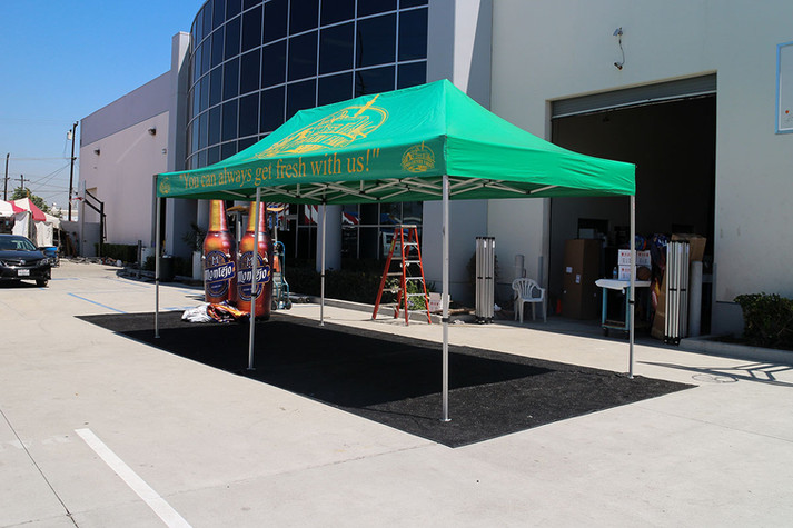 10x20 Custom commercial portable canopy tent green