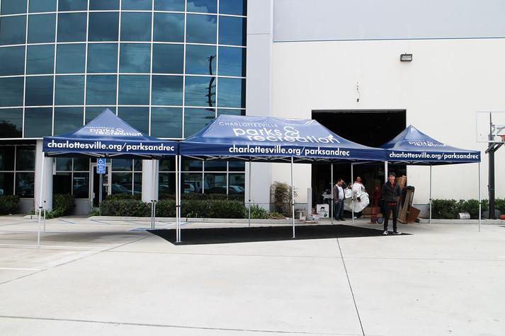 10x20 Custom printed pop up tents Parks