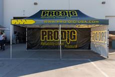10x20 custom pop up canopy with company logo Pro-Dig