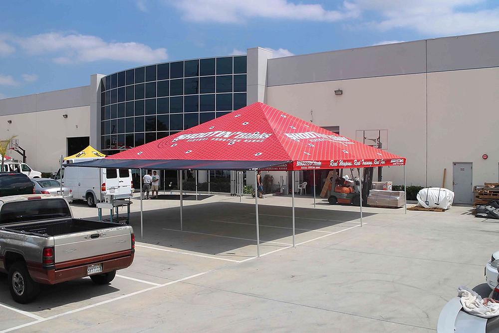 Custom waterproof vinyl tent tops
