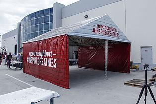 Custom printed gable frame tents