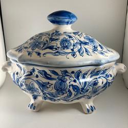vaso grosso blu classico