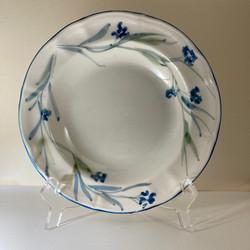 fondo blu floreale