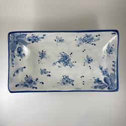 piattino rettangolo blu classico 2