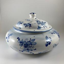 vaso basso blu classico 2