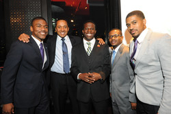 With fellow Morehouse Men in NYC