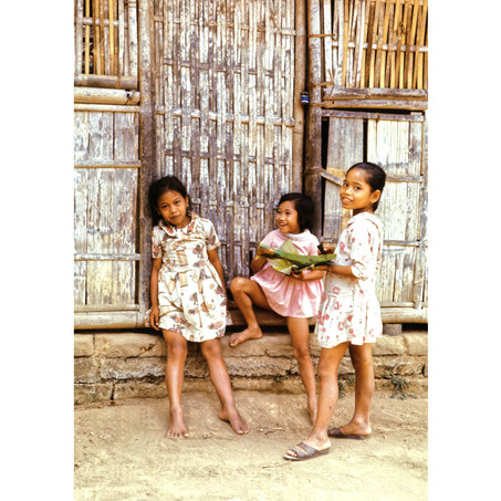 Young girls in the village square.jpg