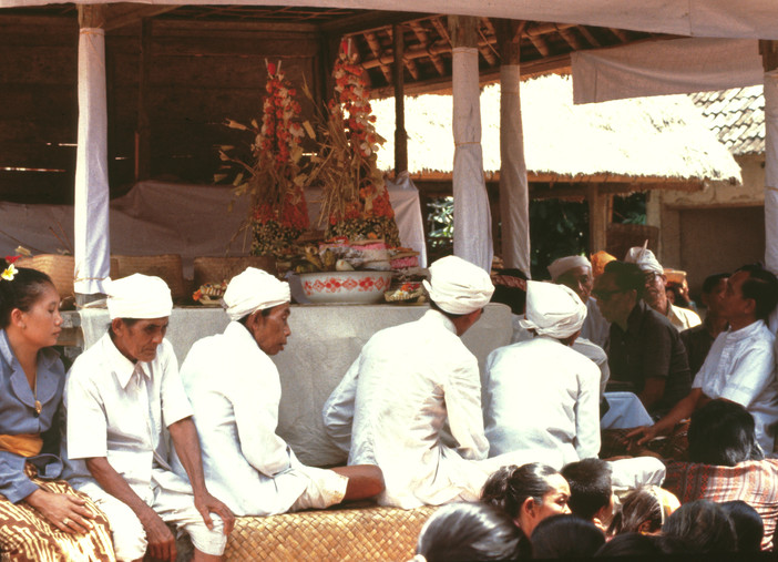 Gathering of priests in temple