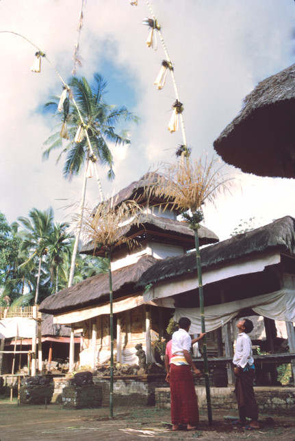 Banner in temple