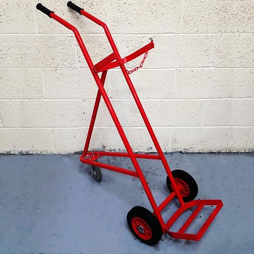 Single 3 Wheel Cylinder Trolley - 1 x Oxygen Or Acetylene