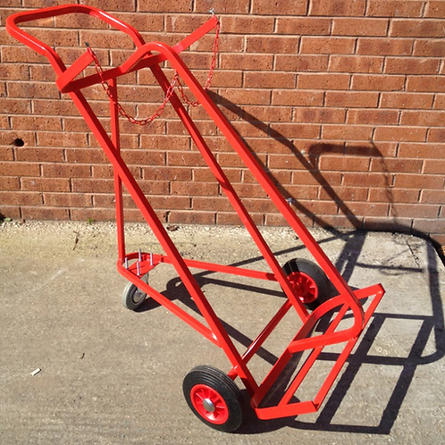 Twin Superior Cylinder Trolley with 3 wheels -2x Oxygen or Acetylene
