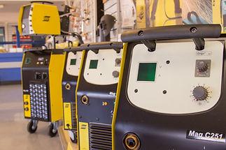 ESAB MIG Welders in showroom of Sheffield based welding equipment supplier Truflame.