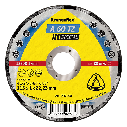 A60 TZ Special Cutting-Off Discs (Pack of 25)