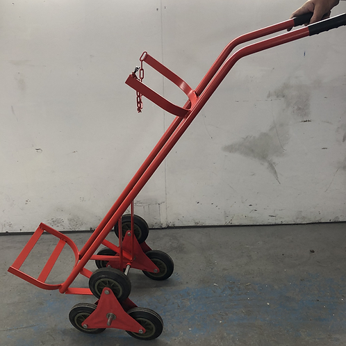 Single Wheel Cylinder Stair Climbing Trolley - 1 x Oxygen or Acetylene