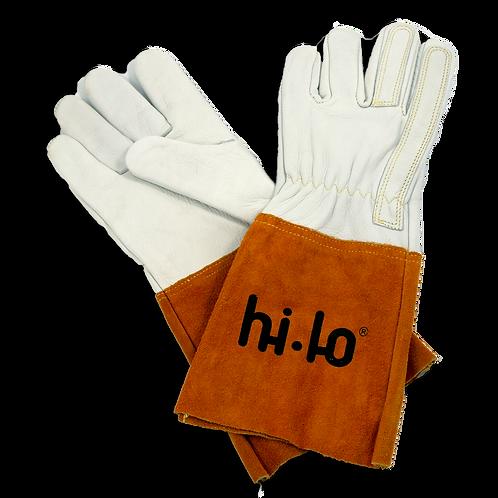 Reinforced Kevlar Stitched TIG Gloves (Gold/White)
