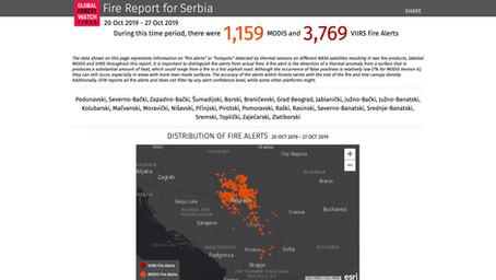 NASA sateliti otkrivaju: Srbija u oktobru imala najviše požara u Evropi