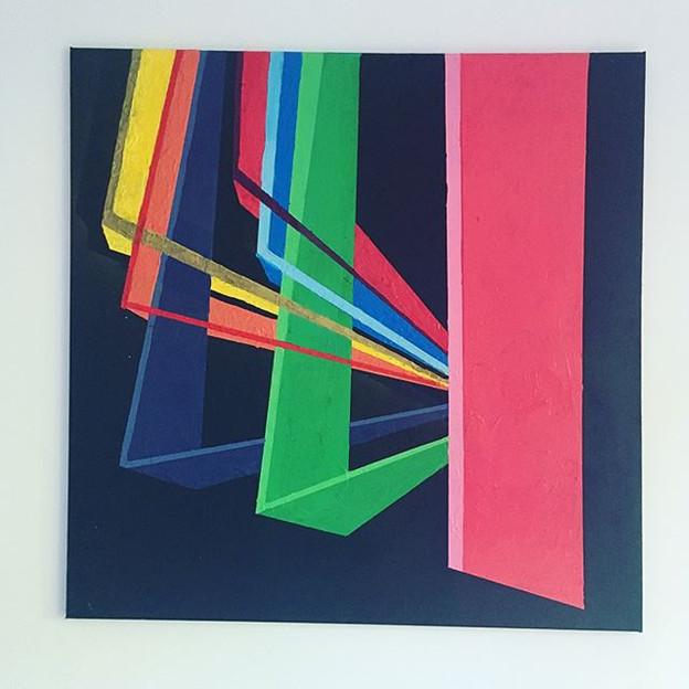 Sunbeam  Acrylic, Spray Paint and Gloss on Canvas 100/100cm £1000