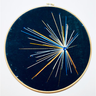 Space Craft - Draco Study no.4 Embroidery on printed velvet 30/30cm		 £150